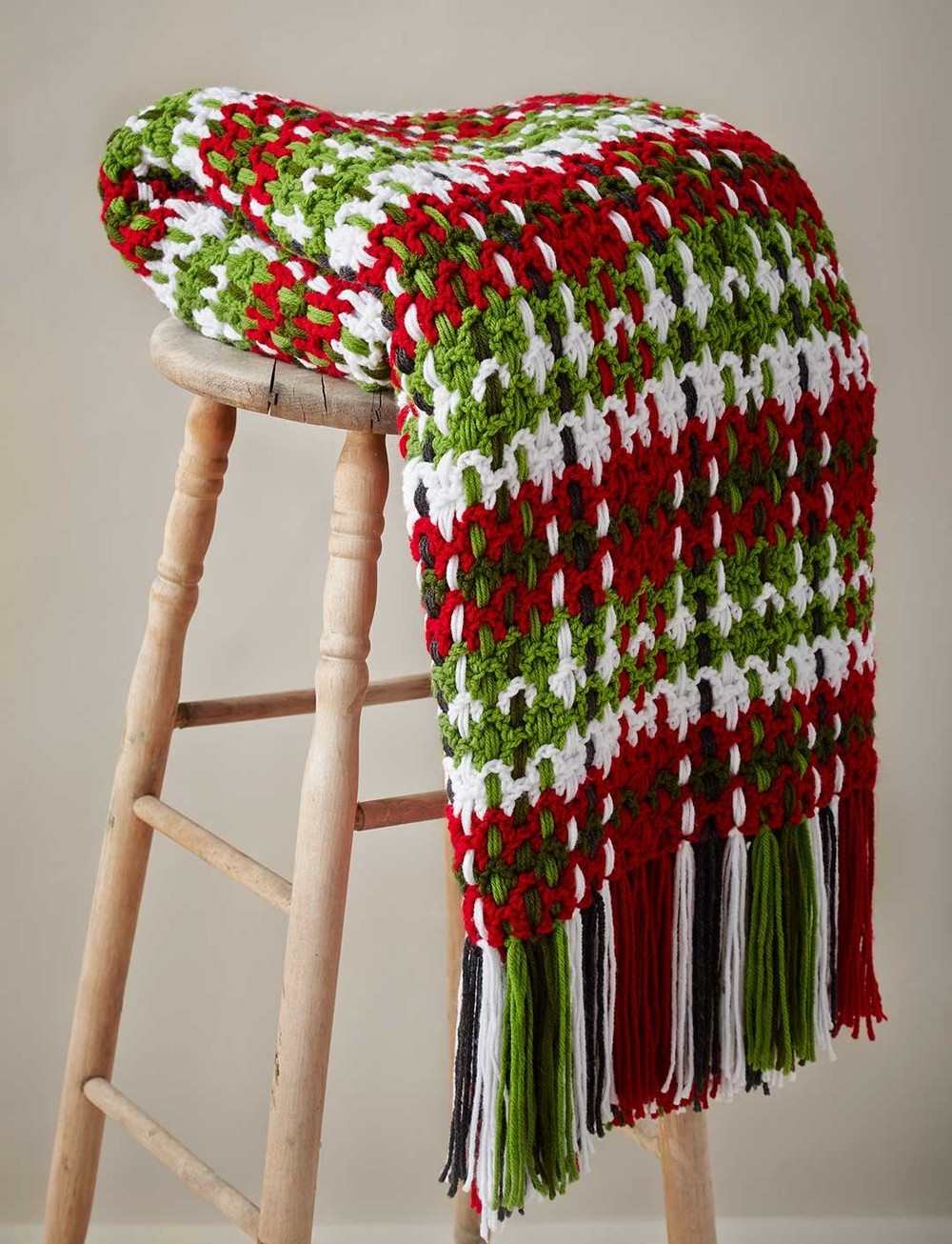 Contemporary Plaid Crochet Afghan Pattern