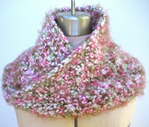 Elegant Cowl Moebius Scarf Pink Camo Chunky by Grievousangeldesigns Pink Camouflage Yarn Of Charming 42 Pics Pink Camouflage Yarn