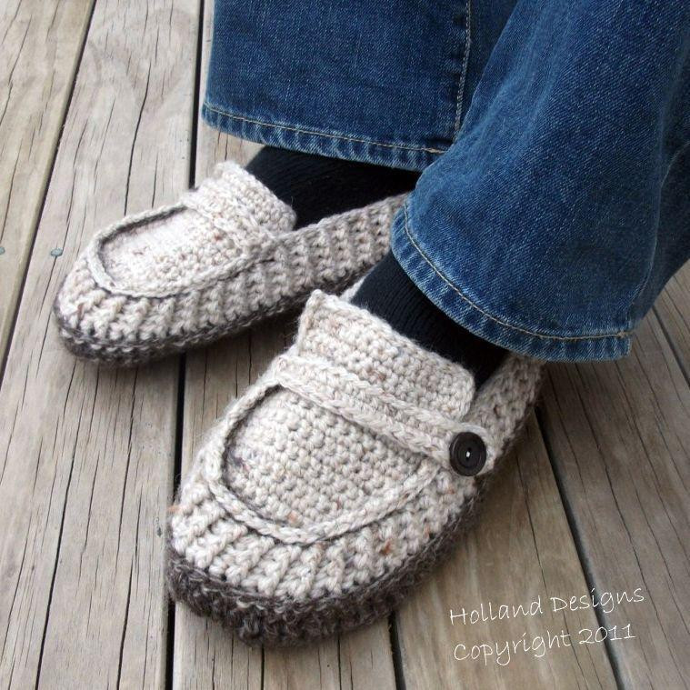 Craftdrawer Crafts Crochet some House Slippers or Loafers