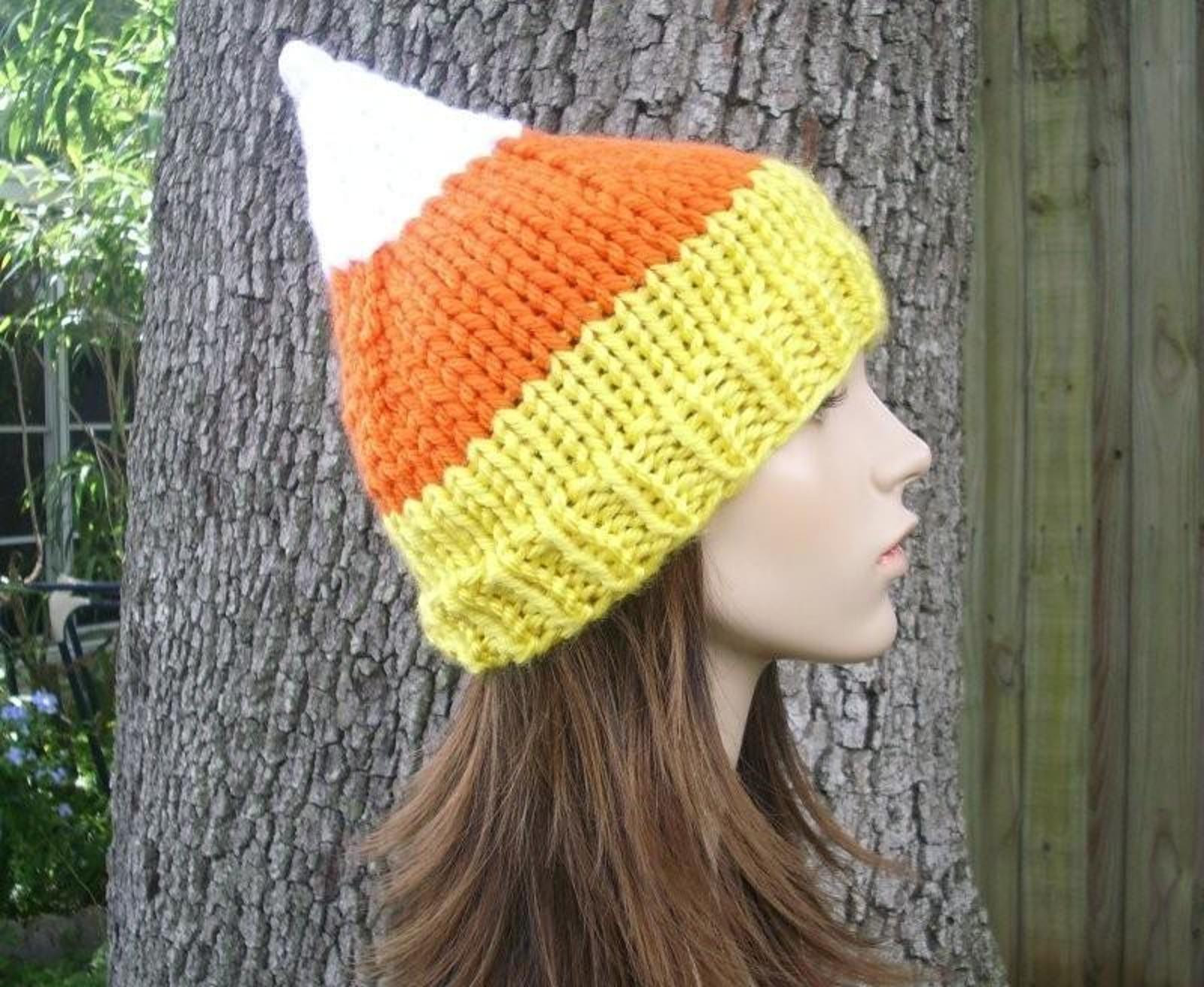 Elegant Creepy & Cute Halloween Knitting Patterns Candy Corn Hat Of Incredible 42 Pictures Candy Corn Hat
