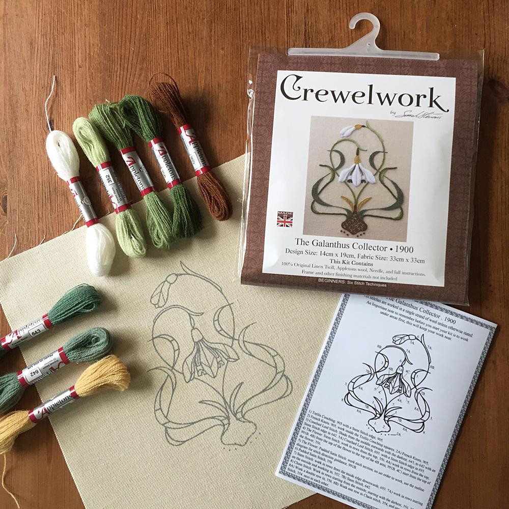 Elegant Crewel Embroidery Kit the Galanthus Collector Melbury Hill Hand Embroidery Kits Beginners Of Gorgeous 45 Photos Hand Embroidery Kits Beginners