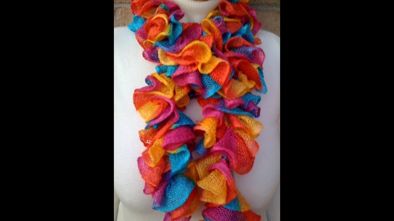 Elegant Crochet A Ruffled Scarf with the Afghan or Tunisian Stitch Crochet Scarf Youtube Of Attractive 40 Pictures Crochet Scarf Youtube