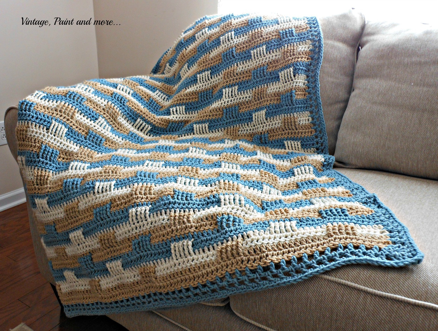 Elegant Crochet Afghan and Stenciled Pillow Basketweave Crochet Afghan Pattern Of Amazing 50 Images Basketweave Crochet Afghan Pattern
