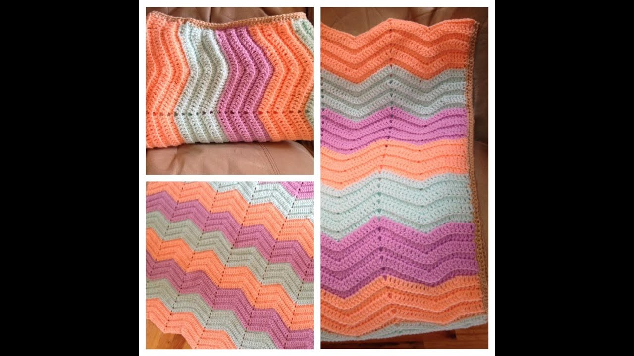 Elegant Crochet Baby Ripple Blanket Zig Zag Afghan Chevron Afghan Crochet Youtube Of Luxury 40 Pictures Afghan Crochet Youtube