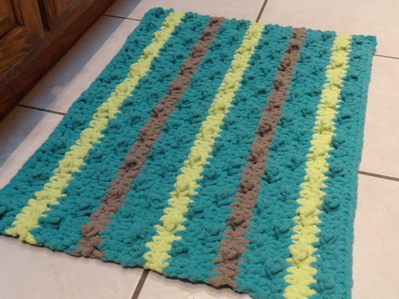 Elegant Crochet Bathroom Rug Bumpy Bath Mat Kitchen Rug Teal Citron Crochet Bath Rugs Of Contemporary 44 Pictures Crochet Bath Rugs