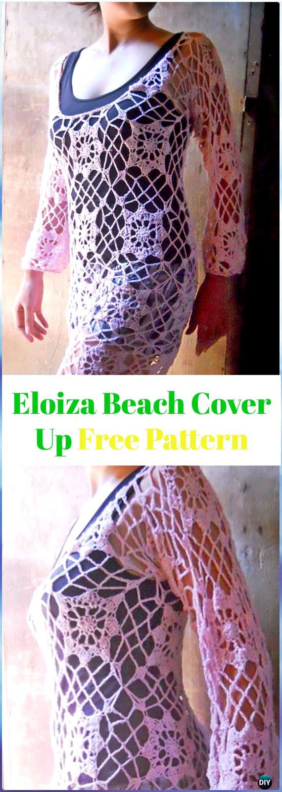 Elegant Crochet Beach Cover Up Free Patterns Women Summer top Crochet Beach Cover Up Patterns Of Adorable 47 Models Crochet Beach Cover Up Patterns