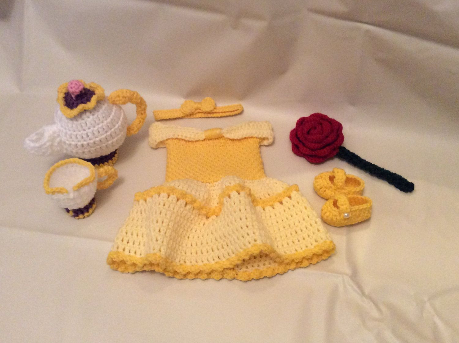 Elegant Crochet Belle Newborn Graphy Prop Set Beauty and the Crochet Baby Costumes Of Incredible 41 Models Crochet Baby Costumes