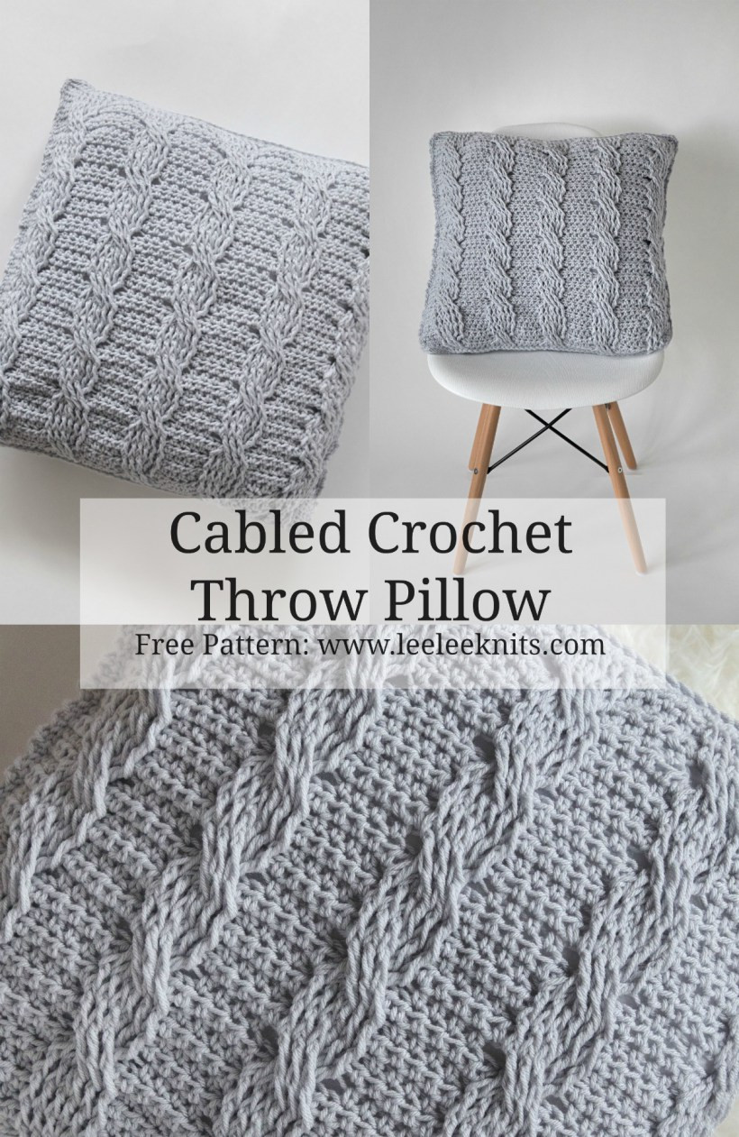 Elegant Crochet Cabled Throw Pillow Pattern Leelee Knits Crochet Cable Blanket Of Lovely 46 Models Crochet Cable Blanket