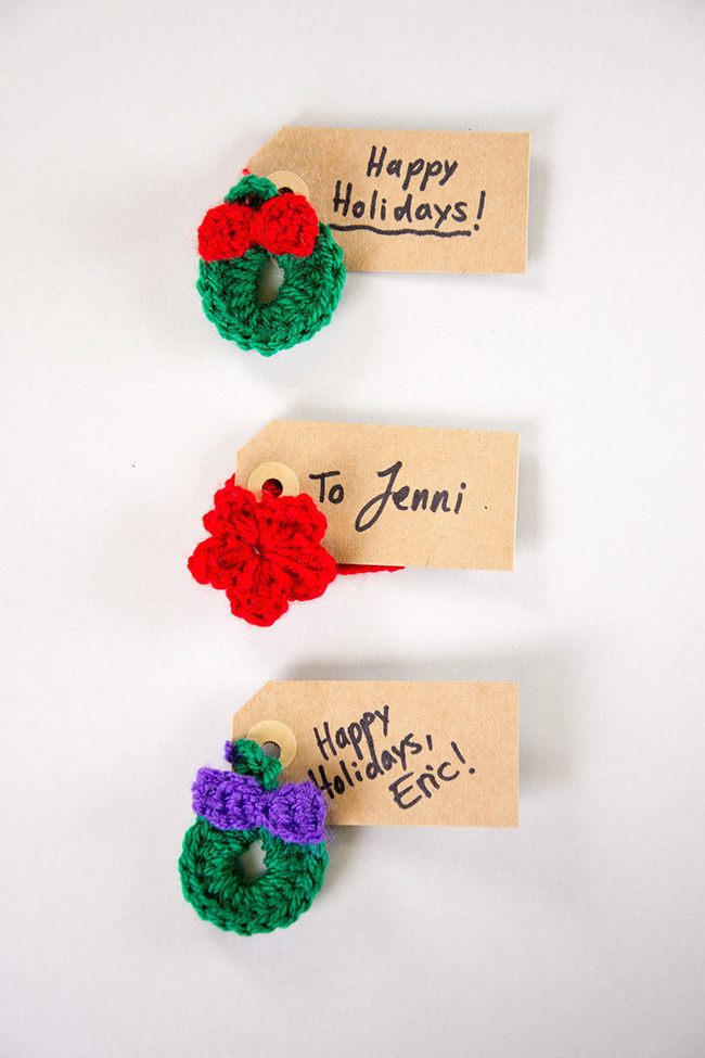 Elegant Crochet Christmas Gift Tag toppers Free Tutorial Videos Crochet Tags Of Unique 47 Models Crochet Tags