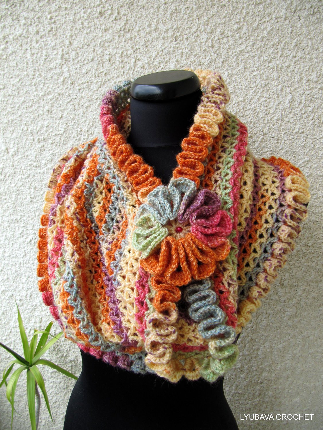 Elegant Crochet Cowl Scarf Pattern Autumn Colors Scarf Diy Scarf Crochet Ruffle Scarf Of Lovely 41 Models Crochet Ruffle Scarf