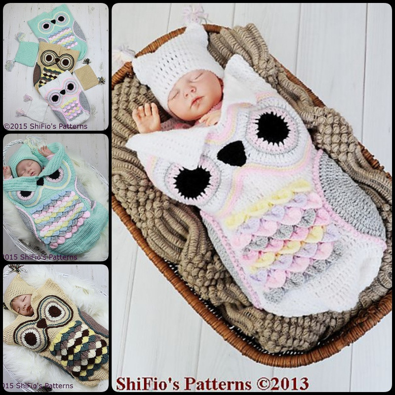 Elegant Crochet Cute Baby Owl Cocoon with Pattern Page 2 Of 2 Baby Cocoon Pattern Of Fresh 45 Images Baby Cocoon Pattern
