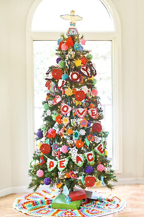Elegant Crochet Decorated Christmas Tree Michaels Dream Tree Crochet Christmas Trees Of Marvelous 46 Ideas Crochet Christmas Trees