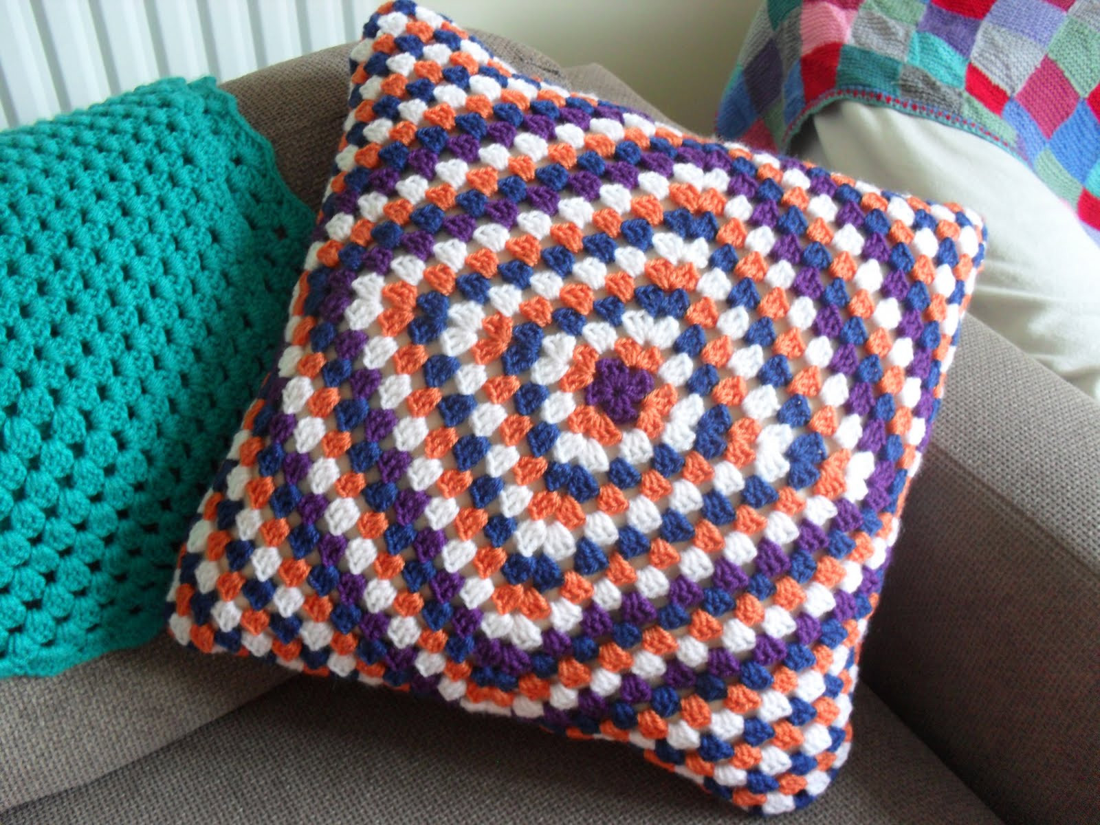 Elegant Crochet Granny Square Cushion Cover Crochet Pillow Covers Of Incredible 47 Pics Crochet Pillow Covers