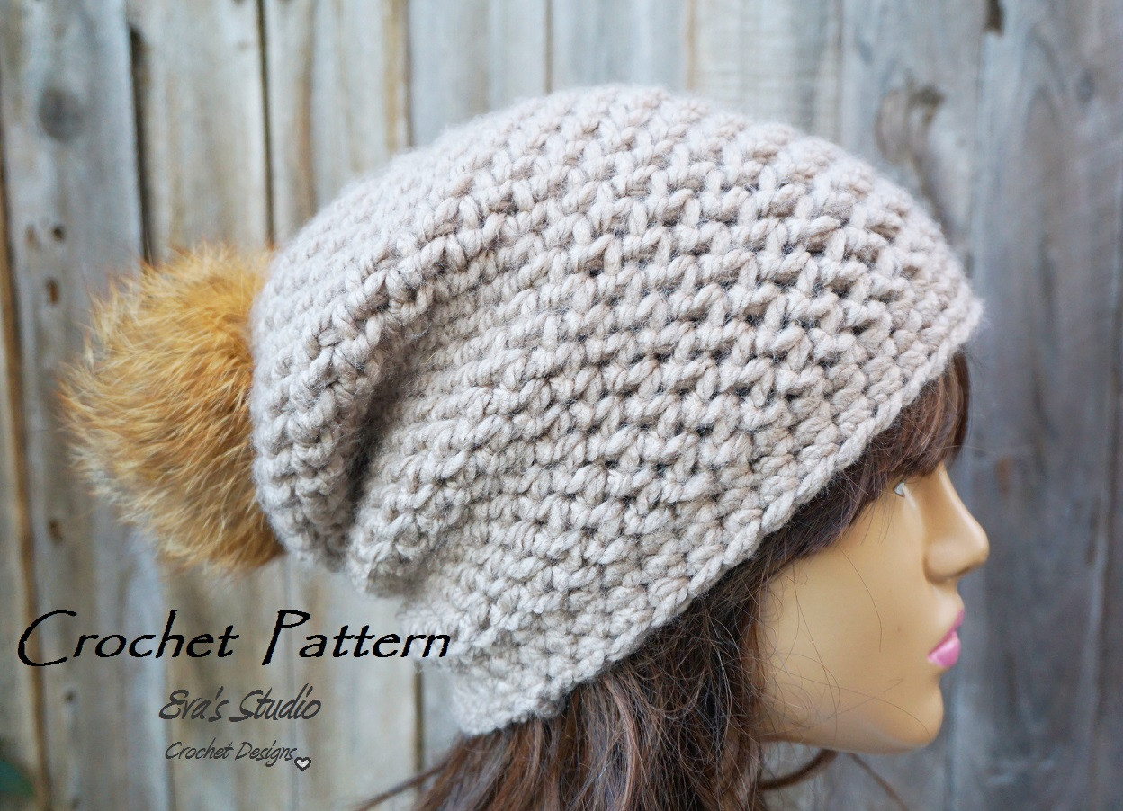 Elegant Crochet Hat Slouchy Hat Crochet Pattern Pdf Easy Great Easy Crochet Hat Patterns for Beginners Of Perfect 43 Models Easy Crochet Hat Patterns for Beginners