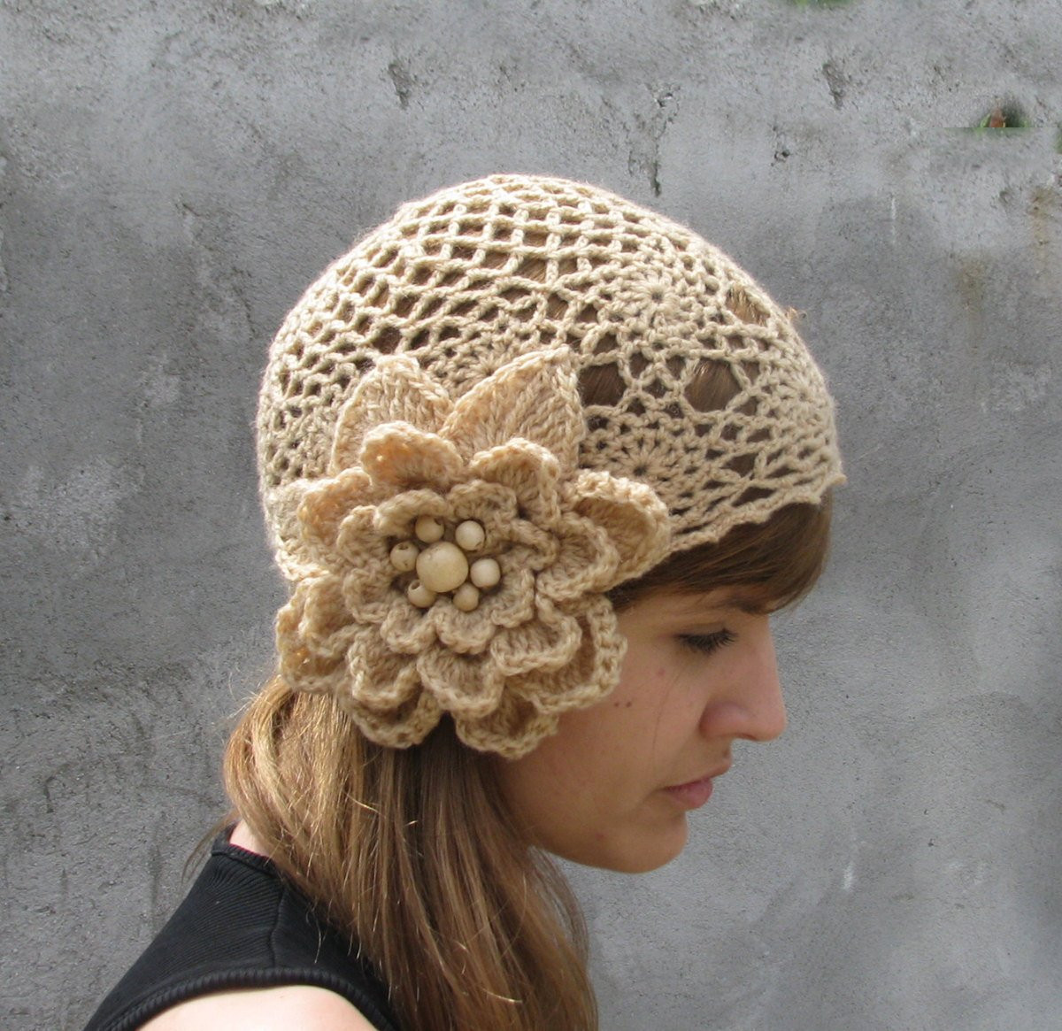 Elegant Crochet Hat with Large Crochet Flower Crochet Flower for Hat Of Beautiful 45 Photos Crochet Flower for Hat