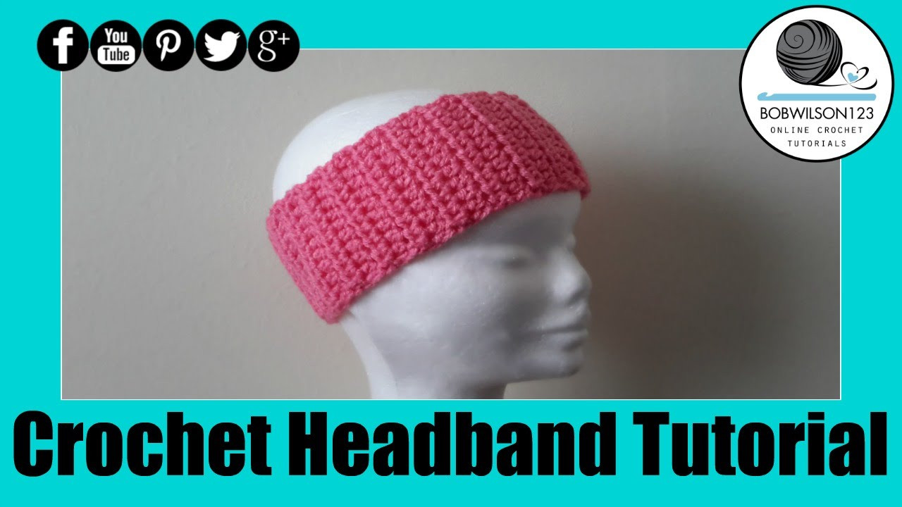 Crochet Headband Easy Tutorial