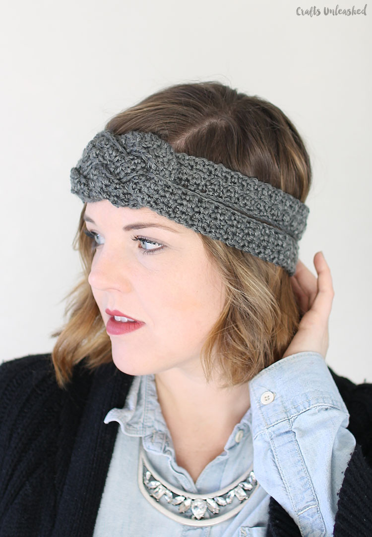 Crochet Headband Pattern with Sailor Knot Detail