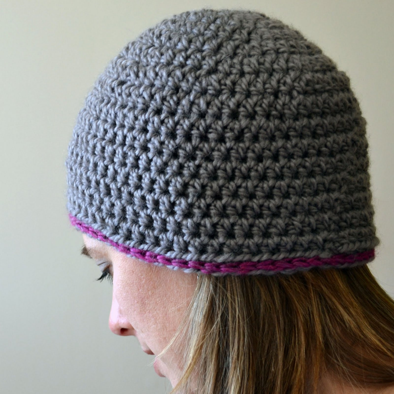 Elegant Crochet In Color Chunky Beanie Pattern Easy Crochet Hat Patterns for Adults Of Delightful 48 Photos Easy Crochet Hat Patterns for Adults