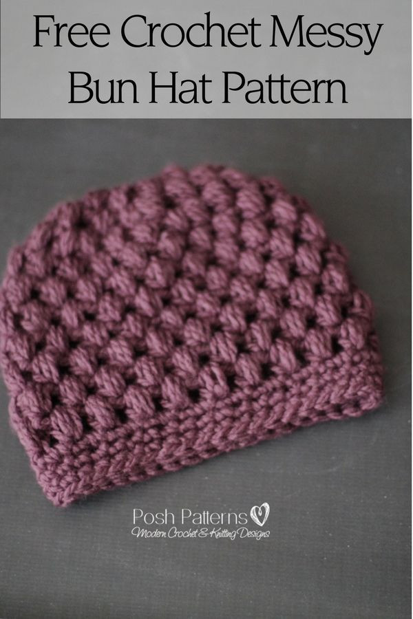 Elegant Crochet Messy Bun Hat Pattern Messy Bun Beanie Crochet Pattern Of Adorable 45 Pics Messy Bun Beanie Crochet Pattern