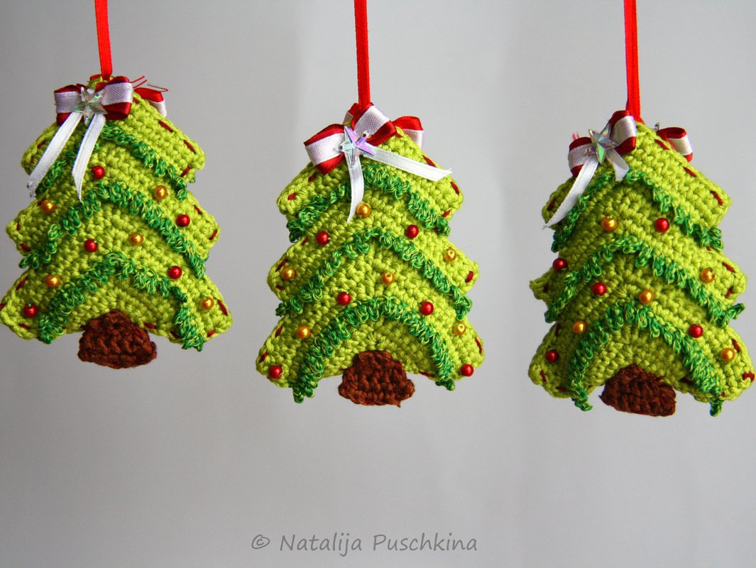 crochet pattern christmas tree ornament tutorial