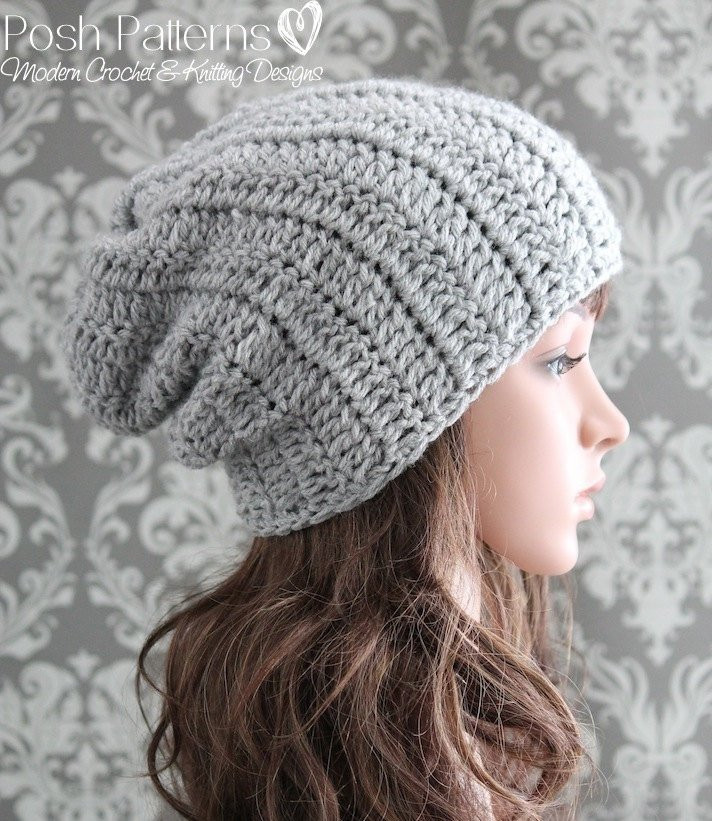 Elegant Crochet Pattern Crochet Hat Pattern Slouchy Hat Pattern Simple Crochet Beanie Of Amazing 46 Ideas Simple Crochet Beanie