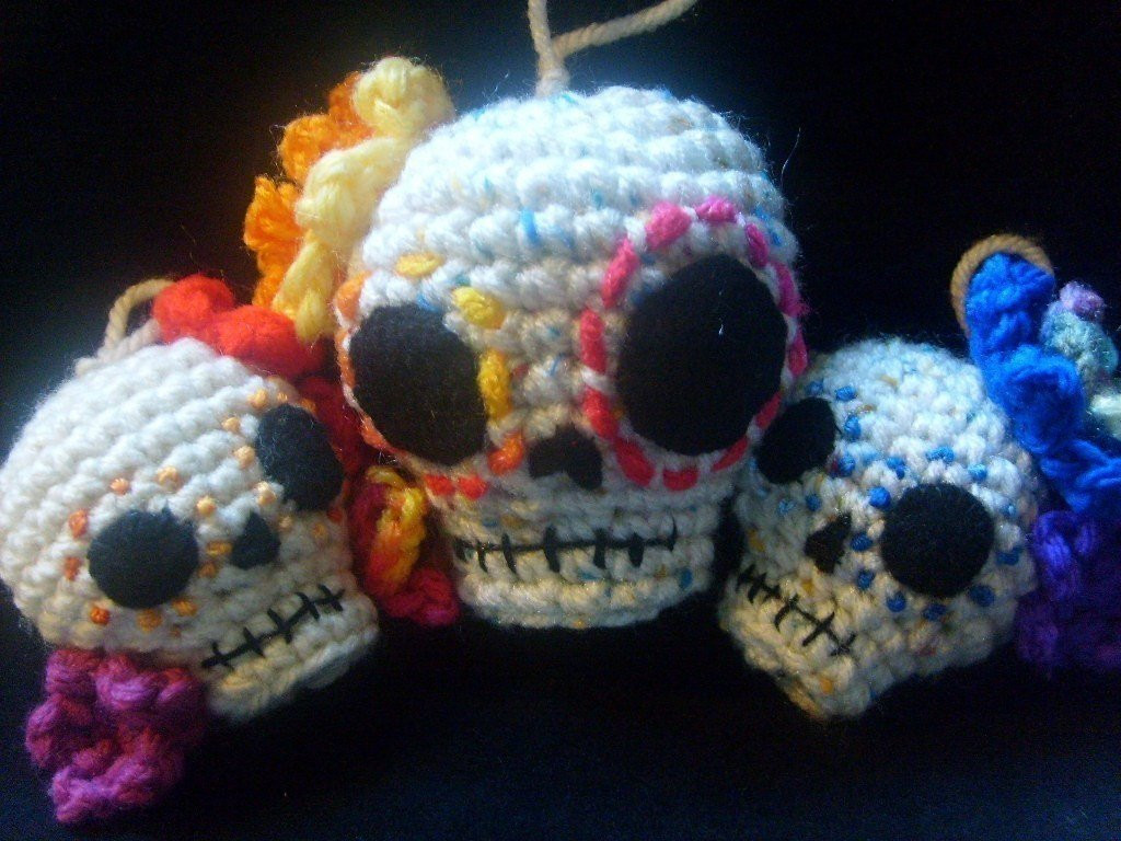 Elegant Crochet Pattern Day Of the Dead Skull Hanging Christmas Crochet Sugar Skull Of Incredible 47 Pictures Crochet Sugar Skull