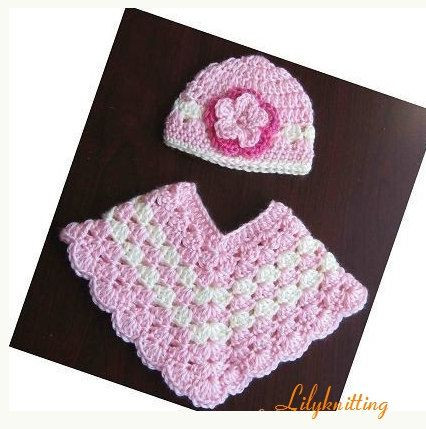 crochet pattern for baby poncho