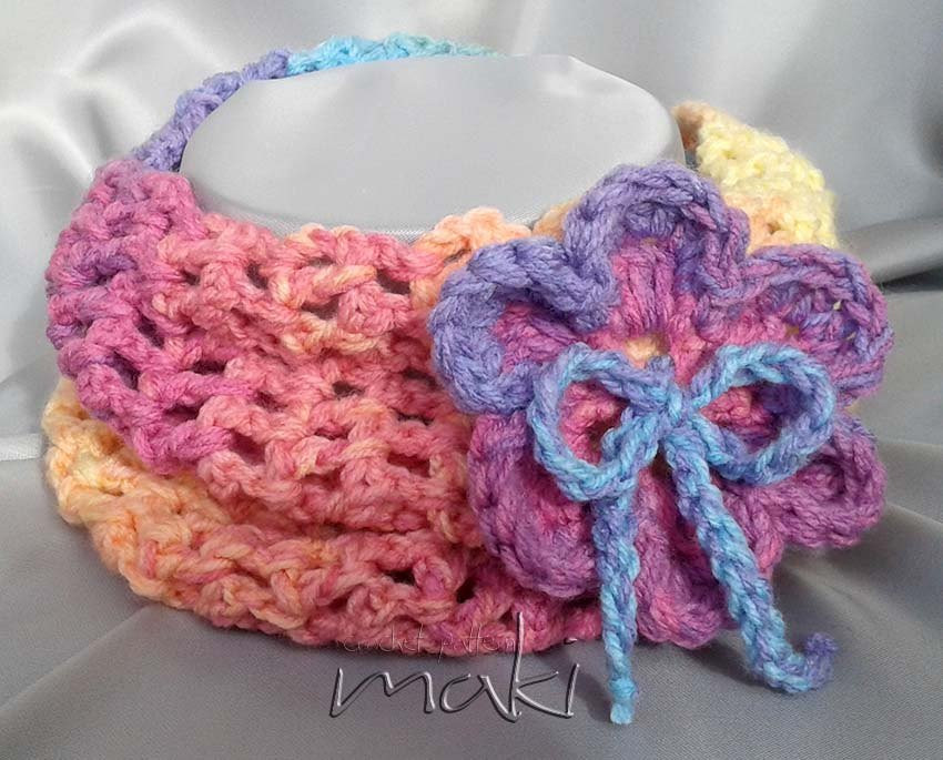 Crochet pattern INFINITY scarf for child teen or adult