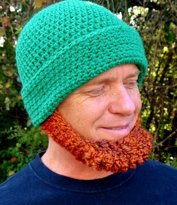 Elegant Crochet Pattern Irish Beard Beanie Reversible Tutorial Crochet Beard Hat Of Charming 44 Models Crochet Beard Hat