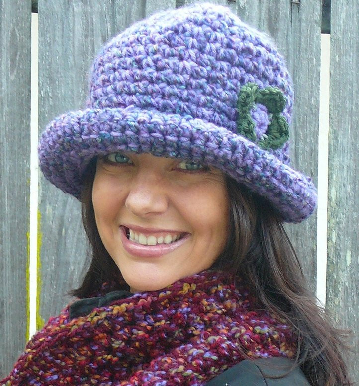 CROCHET PATTERN Roller Hat a rolled brim hat pattern for