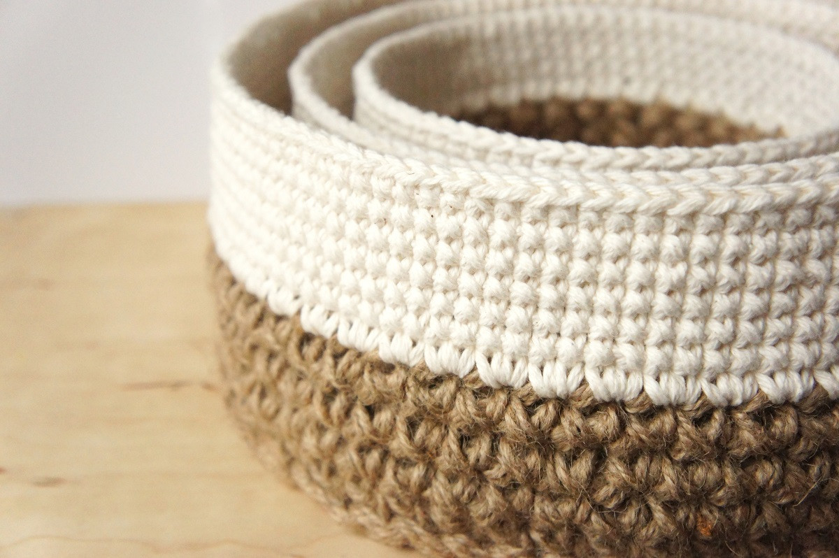 Elegant Crochet Pattern Round Stacking Baskets – Jakigu Basket Stitch Of Lovely 48 Models Basket Stitch