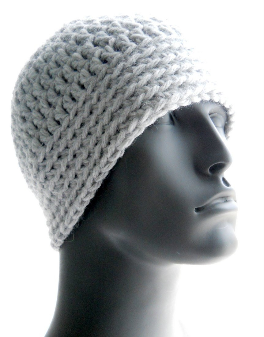 CROCHET PATTERN The Chunky Guy Beanie for Men Crochet