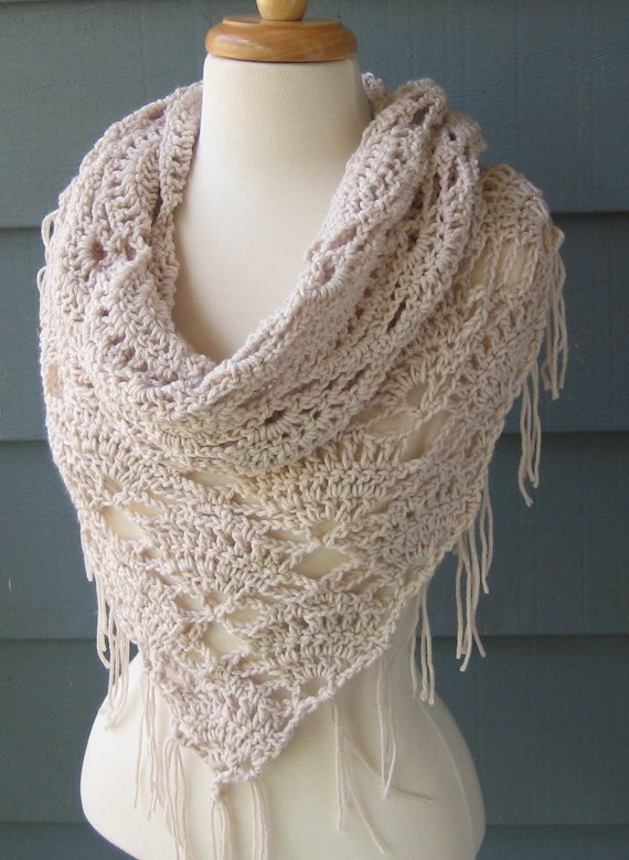 Crochet Pattern Triangle Scarf images