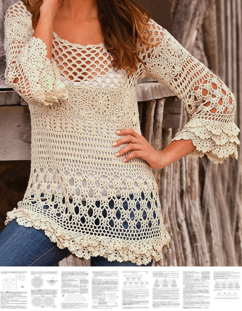 Elegant Crochet Pullover Pattern Boho Tunic Pattern Boho Ruffle Boho Crochet Patterns Free Of Delightful 45 Photos Boho Crochet Patterns Free