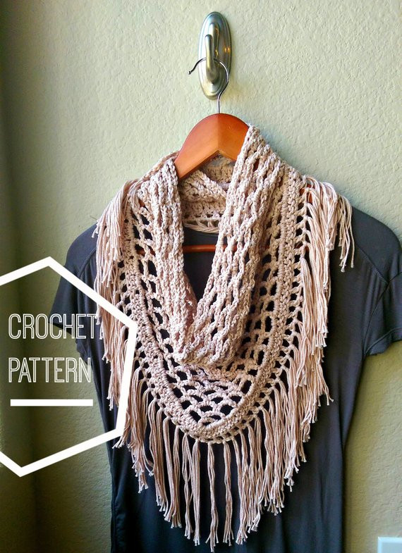 Elegant Crochet Scarf Pattern Triangle Scarf Pattern Fringe Scarf Triangle Scarf Crochet Pattern Of Marvelous 44 Photos Triangle Scarf Crochet Pattern