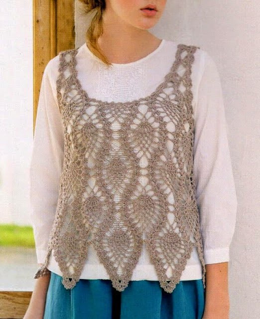 Crochet Sweaters Crochet Vest Pattern For Women