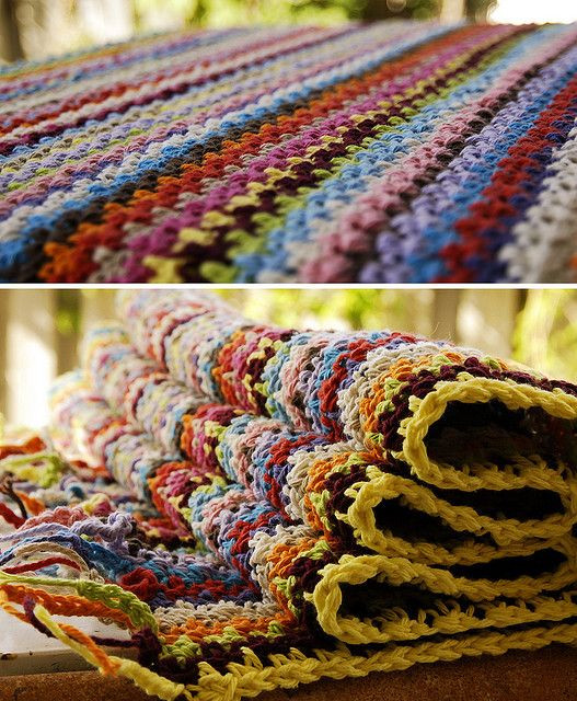 Elegant Crocheted Cotton Striped Bathroom Rug Ch Odd Turn Sc Crochet Bathroom Rug Of Great 43 Images Crochet Bathroom Rug