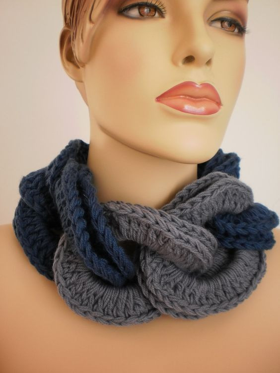 Crocheted Cowl Scarf Neck Warmer