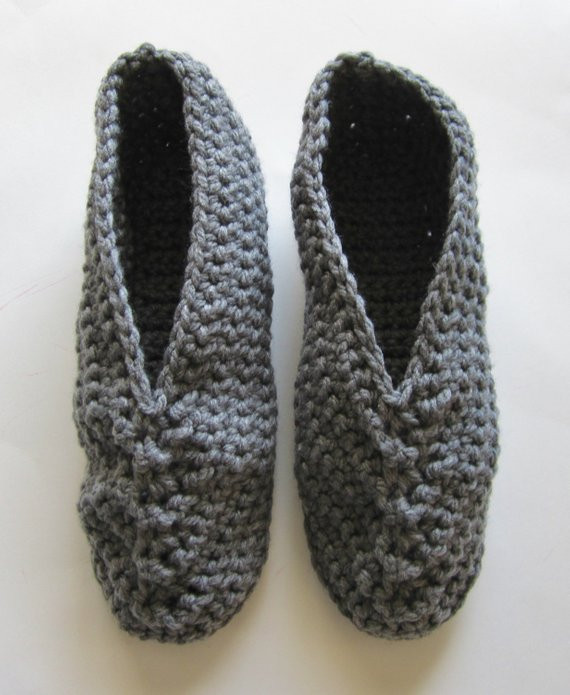 Elegant Crocheted Men S Slippers Size 12 1 2 to 13 1 2 Fathers Mens Crochet Slippers Of Contemporary 46 Images Mens Crochet Slippers
