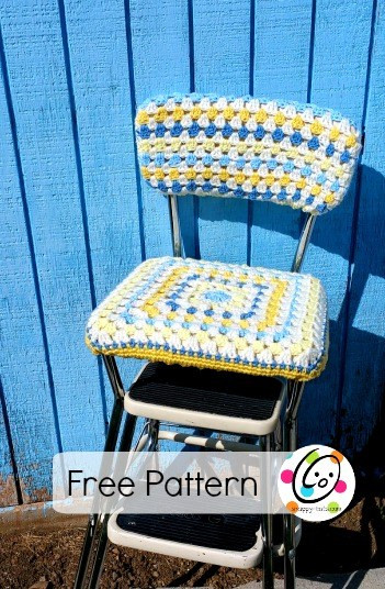 Elegant Diy Old Stool New Look with A Crocheted Seat Cover Crochet Seat Cover Of Great 40 Models Crochet Seat Cover