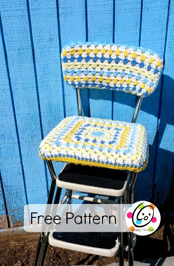 Elegant Diy Old Stool New Look with A Crocheted Seat Cover Crochet Seat Cover Of Beautiful Crochet Car Front Seat Cover Aran Grey Heather Ccfsc1a Crochet Seat Cover