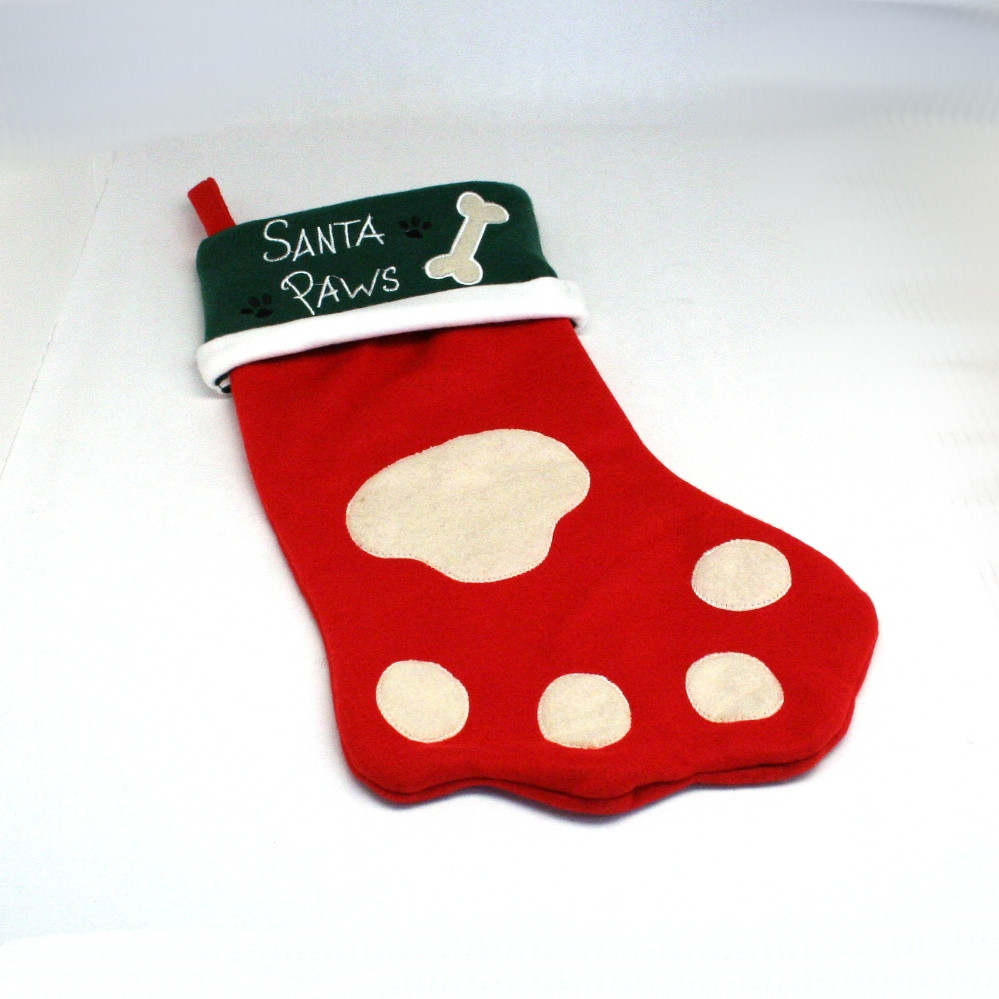 Elegant Dog Paw Christmas Stocking Dog Paw Stocking Of Charming 44 Ideas Dog Paw Stocking