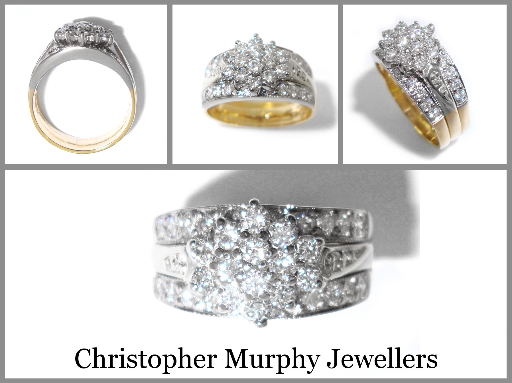 Elegant Double Wedding Rings Christopher Murphy Jewellers Double Wedding Ring Of Perfect 40 Photos Double Wedding Ring