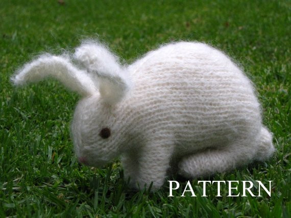 Elegant Easter Bunny Rabbit Knitting Pattern Pdf Knitted Bunny Pattern Of Unique 40 Pics Knitted Bunny Pattern