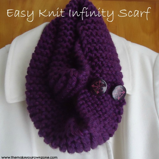 Elegant Easy Knit Infinity Scarf the Make Your Own Zone Simple Knit Scarf Of Attractive 44 Pictures Simple Knit Scarf