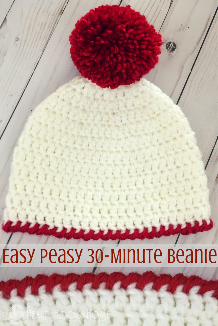 Elegant Easy Peasy 30 Minute Beanie Free Crochet Pattern Simple Crochet Beanie Of Amazing 46 Ideas Simple Crochet Beanie