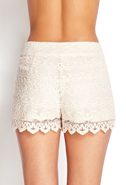 Elegant forever 21 Crochet Lace Shorts In Beige Cream Crochet Lace Shorts Of Unique 47 Photos Crochet Lace Shorts