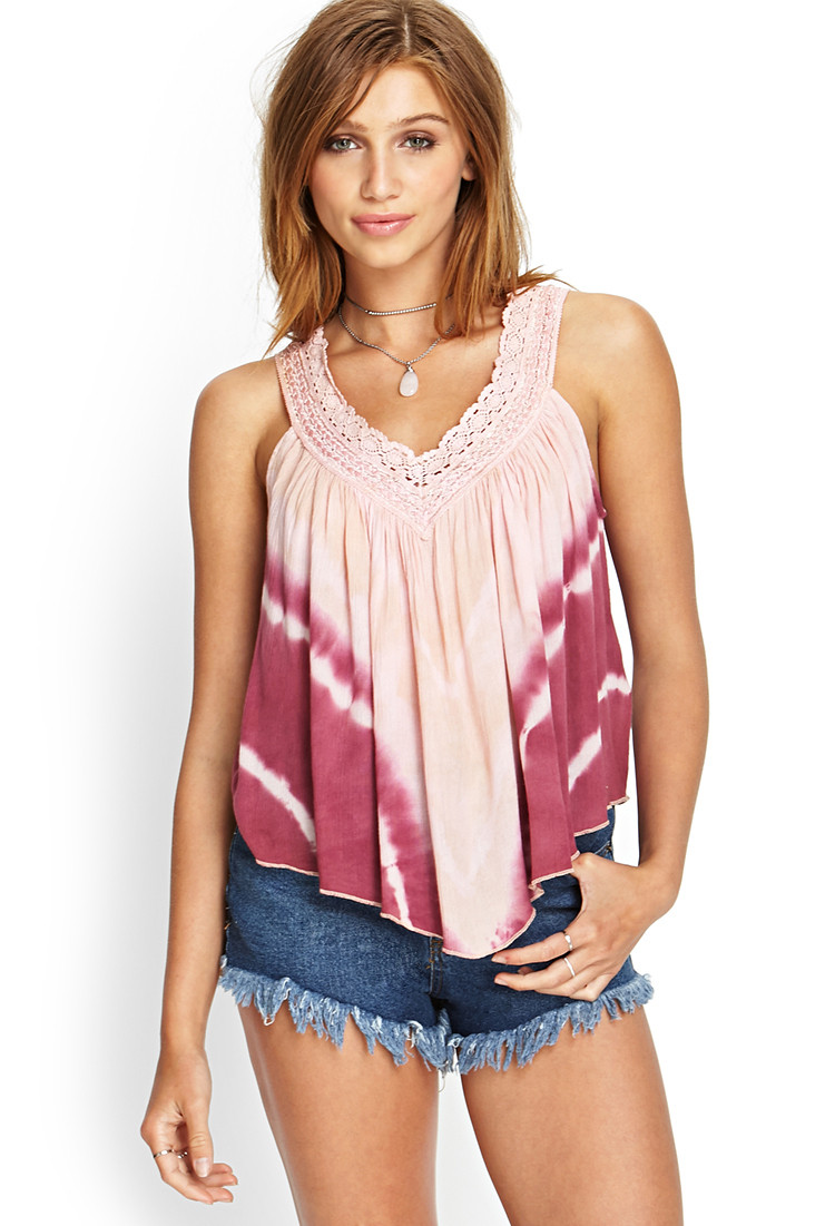 Elegant forever 21 Tie Dyed Crochet top In Pink Crochet tops forever 21 Of Amazing 46 Pics Crochet tops forever 21