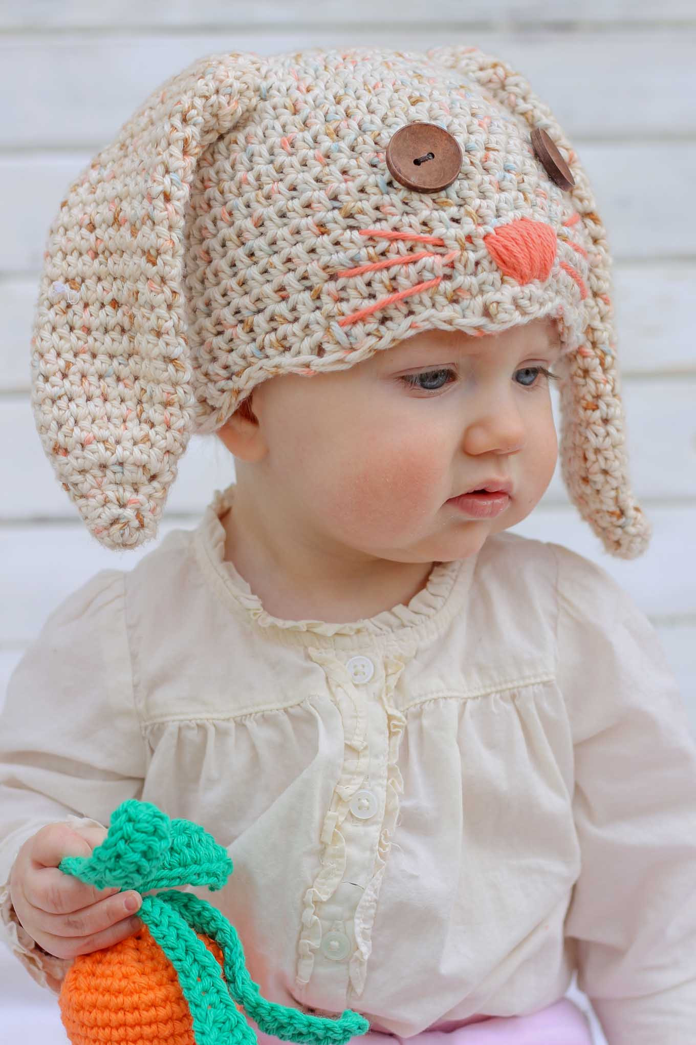 Elegant Free Crochet Bunny Hat Pattern Newborn toddler Make Baby Animal Hats Of Attractive 49 Images Baby Animal Hats