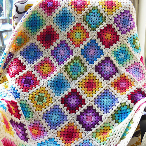Elegant Free Crochet Pattern Colourful Rainbow Granny Square Rainbow Crochet Blanket Of Great 40 Photos Rainbow Crochet Blanket